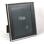 Bella Shadow Chambray silver and black8x10  ready made frame - style F8734990
