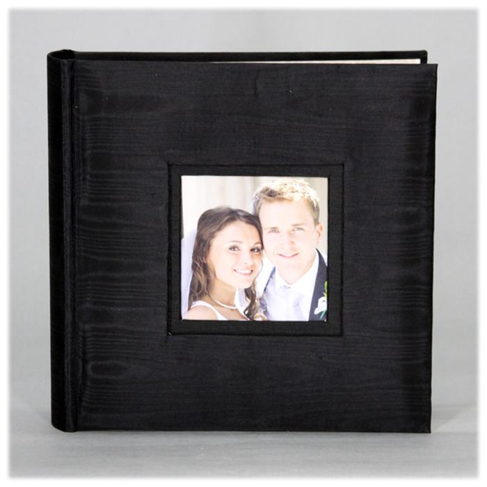 Nielsen Black Fabric 4x6 Photo Album- PA03FBL | Frame It Waban Gallery