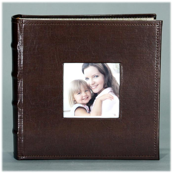 Nielsen Brown Leather 4x6 Photo Album- PA03LBR | Frame It Waban Gallery