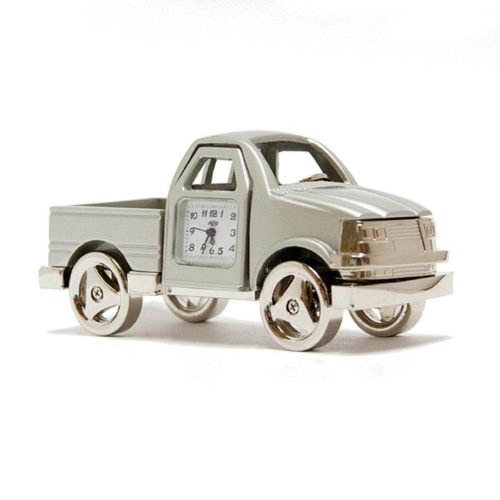 Sanis Pickup Truck Silver Desk Clock 848