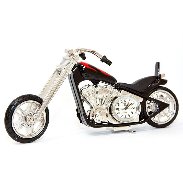 Sanis Enterprises Inc. Motorcycle Desk Clock ST1324TP-BK