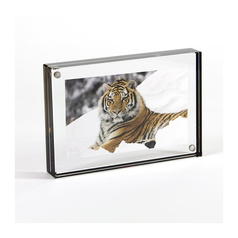 Canetti 2.5 x 3.5 acrylic photo frame with graphite edge - LC302K