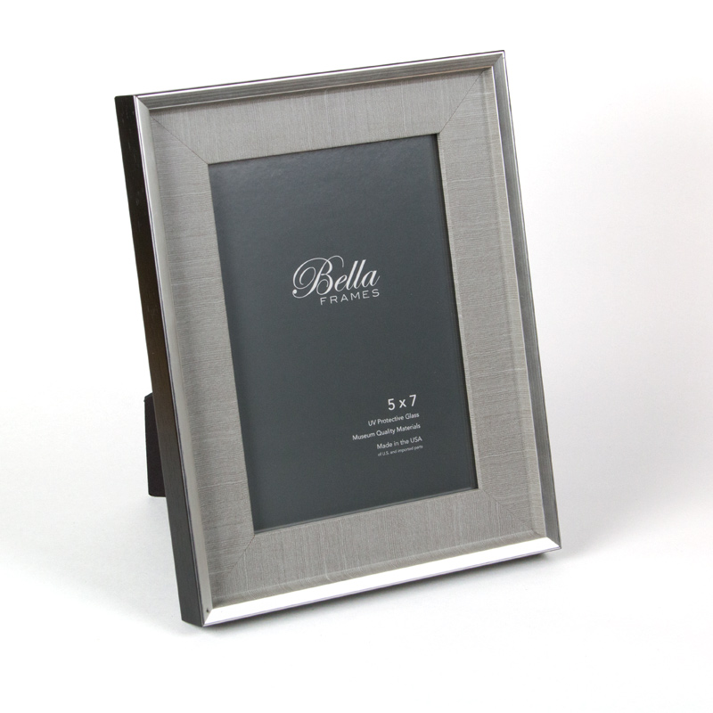 Bella Anchor Chambray silver and black 5x7 ready made frame - style F5734991