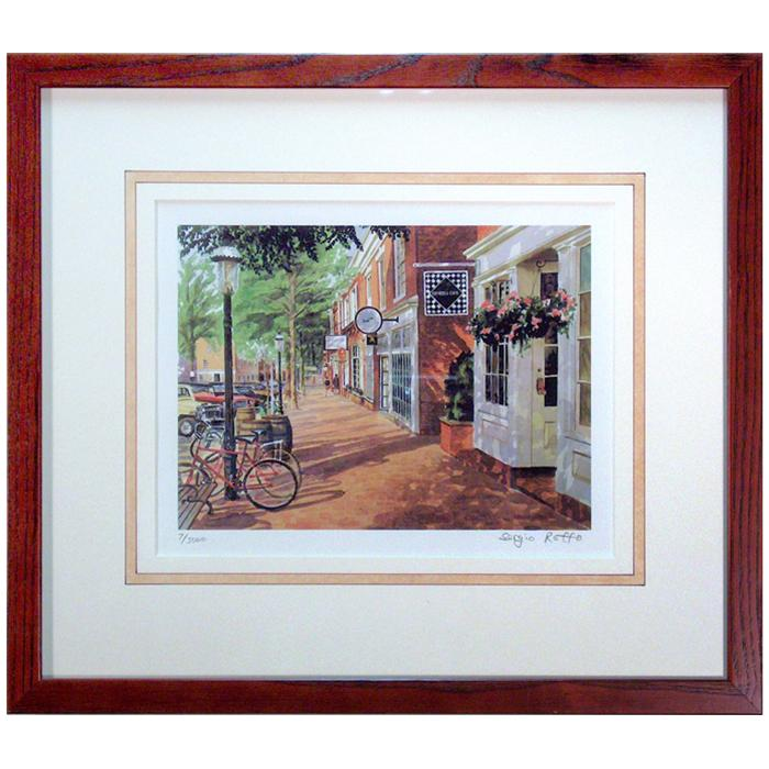 "framed artwork ""Afternoon Shadows"" by Sergio Roffo"