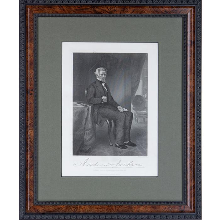 Etching of Andrew Jackson by Alonzo Chappel