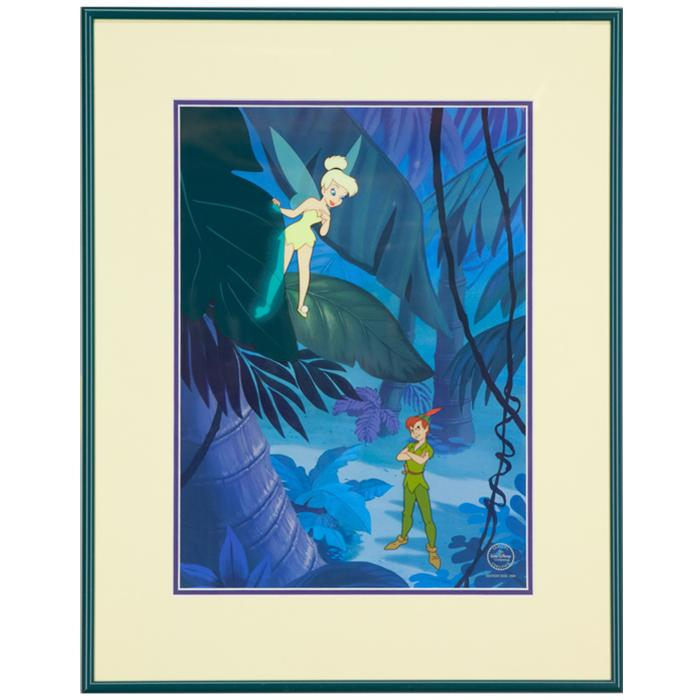 Framed artwork of Making Mischief Peter Pan Animation Cel