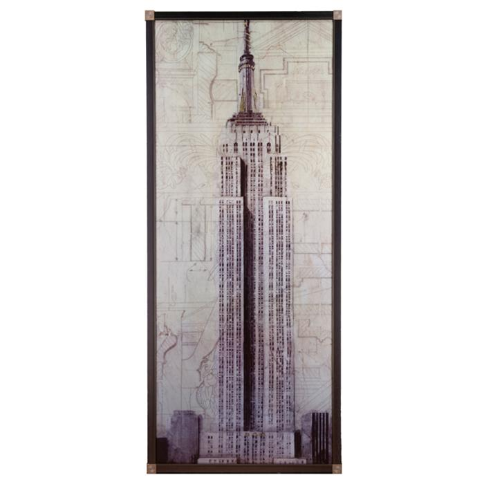 framed artwork Empire State Building by John Douglass