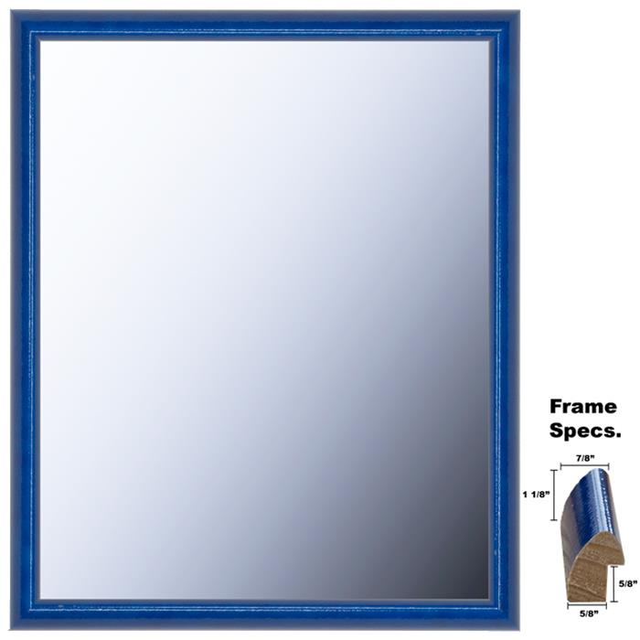 Newton Series Framed Mirror Style 509 High Gloss Blueberry Painted Wood Frame - In Many Sizes | Frame It Waban Gallery
