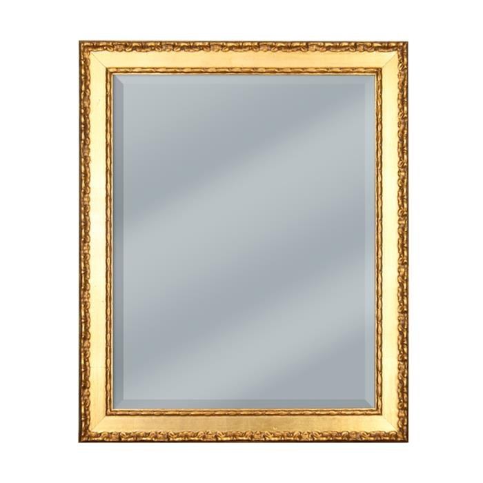 Baroque gold framed mirror 19 1/2 x 23 1/2  | Frame It Waban Gallery