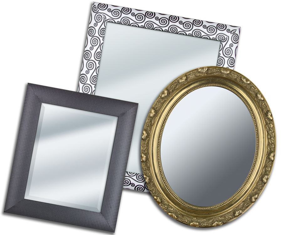 Custom Mirrors from Frame It/ Waban Gallery